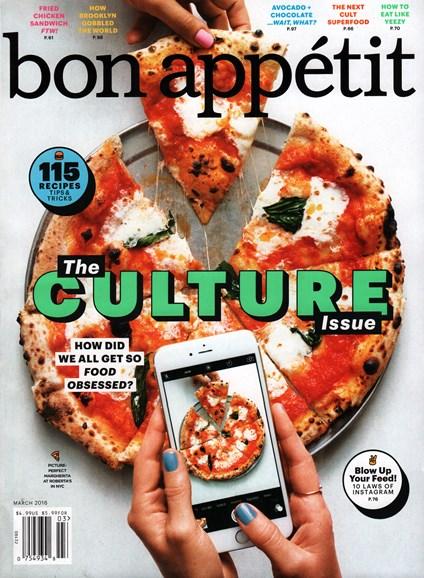Bon Appétit Cover - 3/1/2016