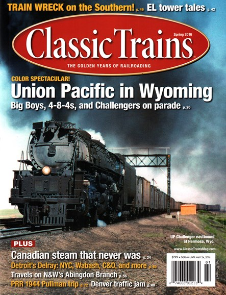 Classic Trains Cover - 3/1/2016