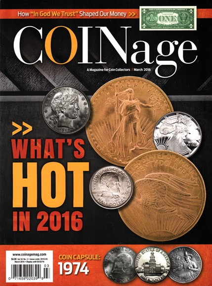 Coinage Cover - 3/1/2016