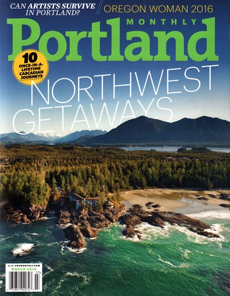 Portland Monthly Cover - 3/1/2016