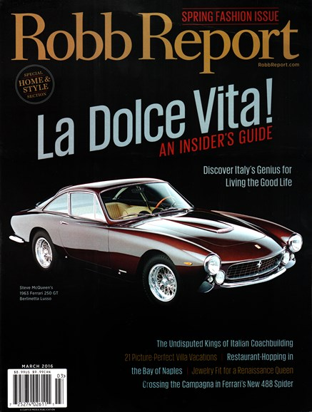 Robb Report Cover - 3/1/2016