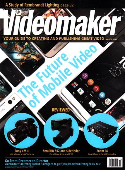 Videomaker Cover - 3/1/2016