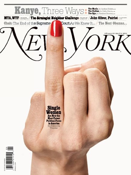 New York Magazine Cover - 2/22/2016