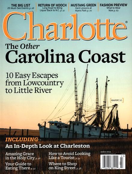 Charlotte Magazine Cover - 3/1/2016