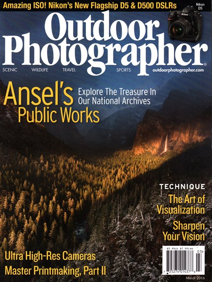 Outdoor Photographer Cover - 3/1/2016