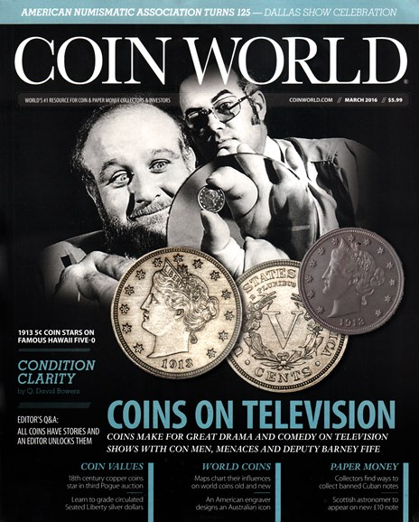 Coin World Monthly Cover - 3/1/2016