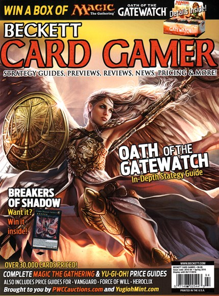Beckett Card Gamer Cover - 3/1/2016