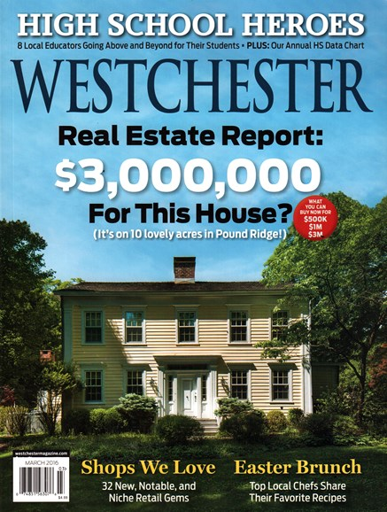 Westchester Magazine Cover - 3/1/2016