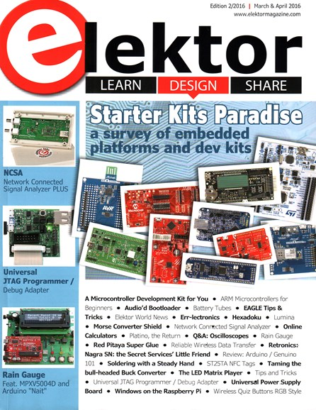 Elektor - North American Edition Cover - 3/1/2016