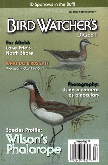 Bird Watcher's Digest Cover - 3/1/2016