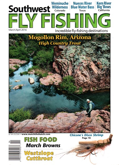 Southwest Fly Fishing Cover - 3/1/2016
