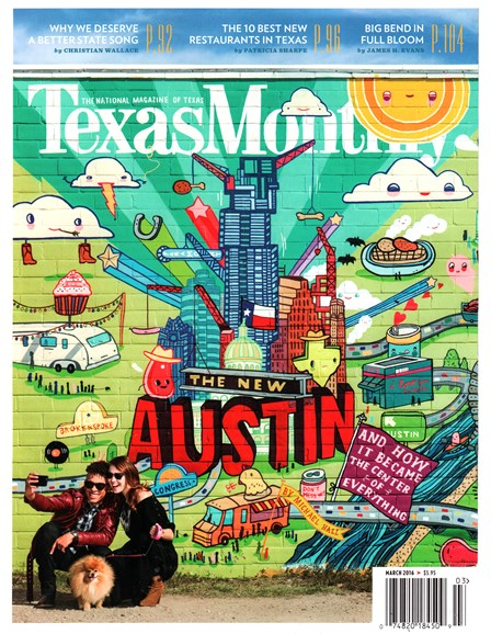 Texas Monthly Cover - 3/1/2016