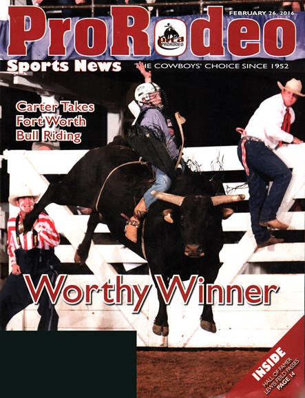 Pro Rodeo Sports News Cover - 2/26/2016