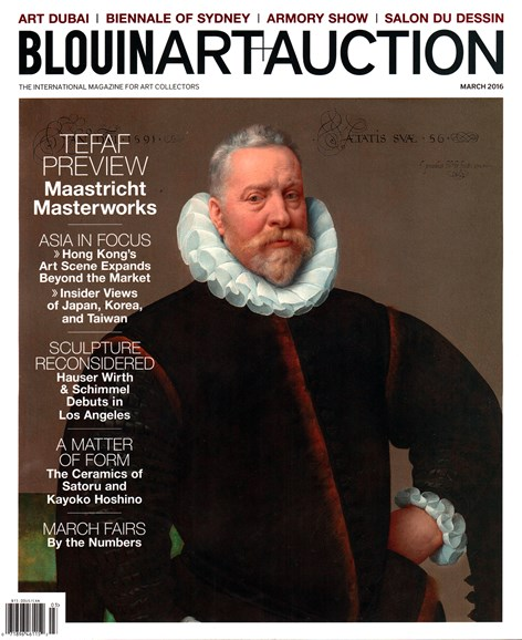 Blouin Art & Auction Cover - 3/1/2016