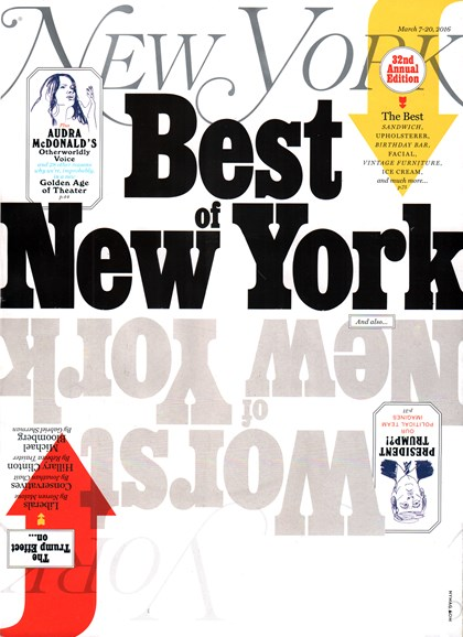 New York Magazine Cover - 3/7/2016