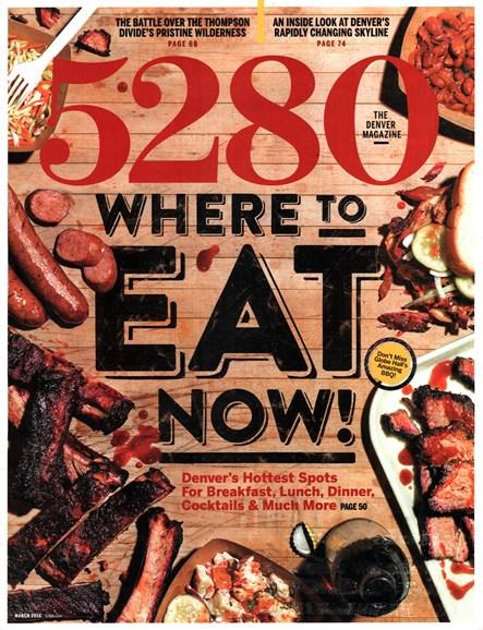 5280 Magazine Cover - 3/1/2016