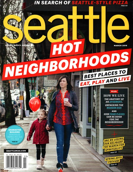 Seattle Magazine Cover - 3/1/2016