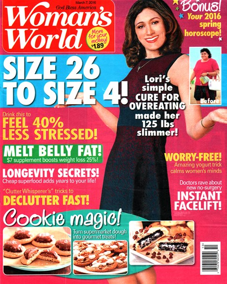 Woman's World Cover - 3/7/2016