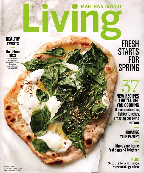 Martha Stewart Living Cover - 4/1/2016