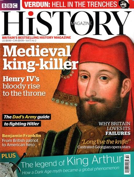 BBC History Cover - 2/1/2016