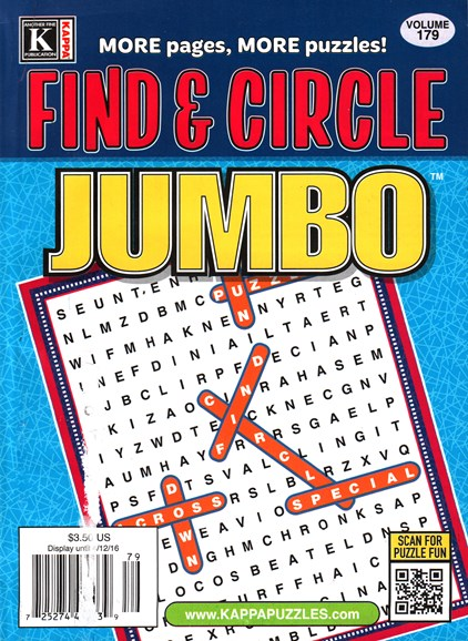 Find & Circle Jumbo Cover - 5/1/2016