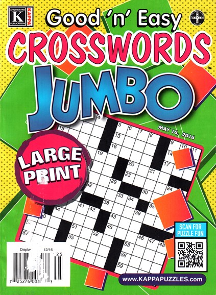 Good N Easy Crosswords Jumbo Cover - 5/16/2016