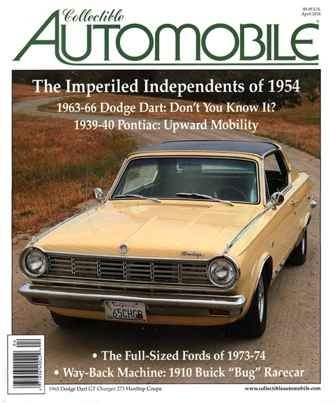 Collectible Automobile Cover - 4/1/2016