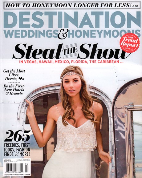 Destination Weddings & Honeymoons Cover - 4/1/2016