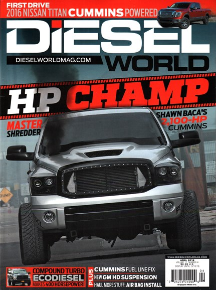 Diesel World Cover - 4/1/2016