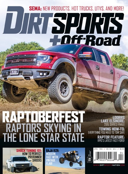 Dirt Sports & Off-Road Cover - 4/1/2016