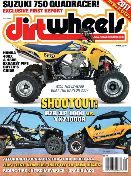 Dirt Wheels Cover - 4/1/2016