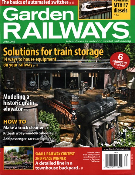 Garden Railways Cover - 4/1/2016