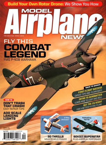Model Airplane News Cover - 4/1/2016