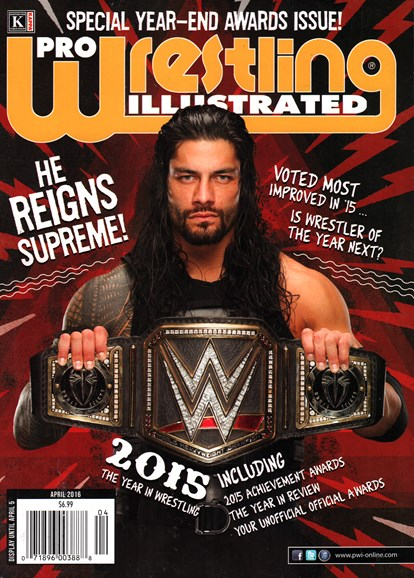 Pro Wrestling Illustrated Cover - 4/1/2016