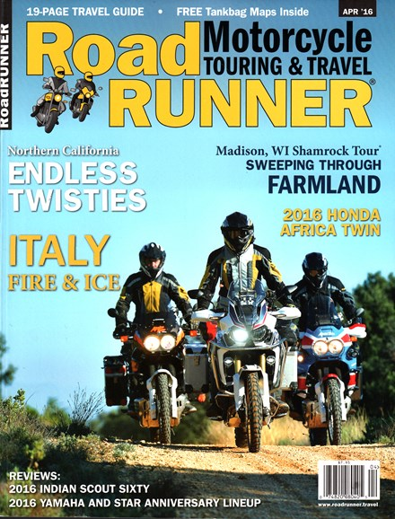 Road RUNNER Motorcycle & Touring Cover - 4/1/2016