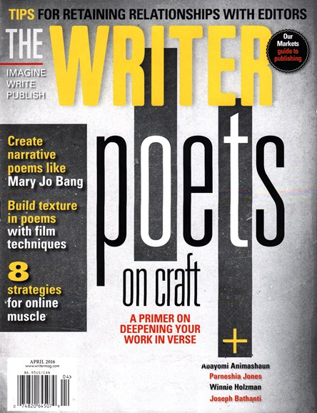 The Writer Cover - 4/1/2016