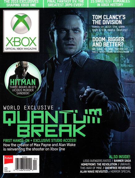 Official Xbox Magazine Cover - 4/1/2016