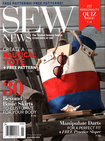Sew News Cover - 4/1/2016