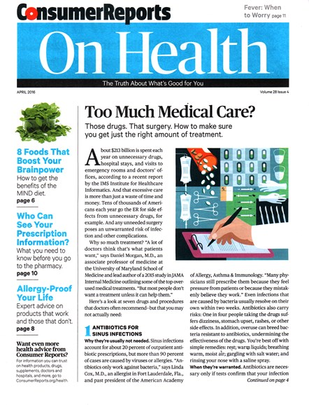 Consumer Reports On Health Cover - 4/1/2016