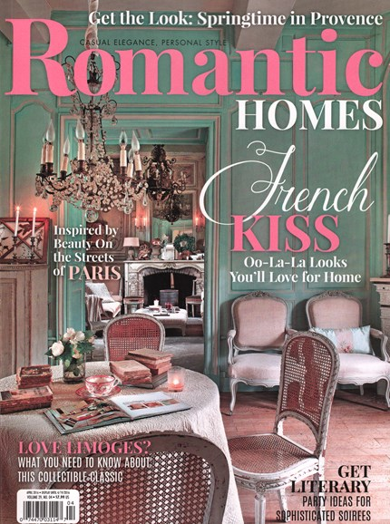 Romantic Homes Cover - 4/1/2016