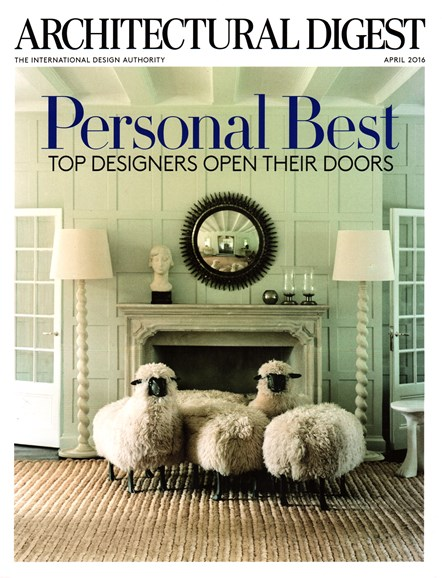 Architectural Digest Cover - 4/1/2016