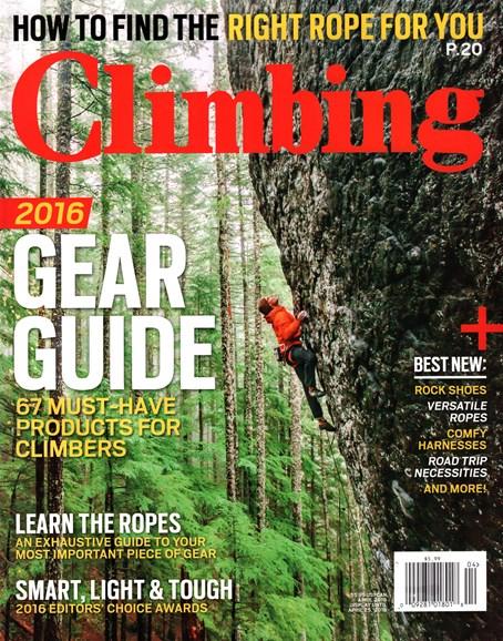 Climbing Magazine Cover - 4/1/2016