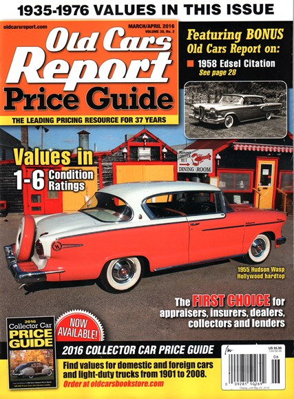 Old Cars Report Price Guide Cover - 3/1/2016