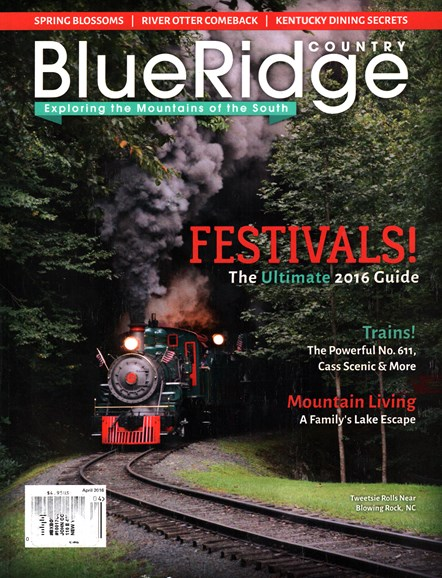 Blue Ridge Country Cover - 4/1/2016