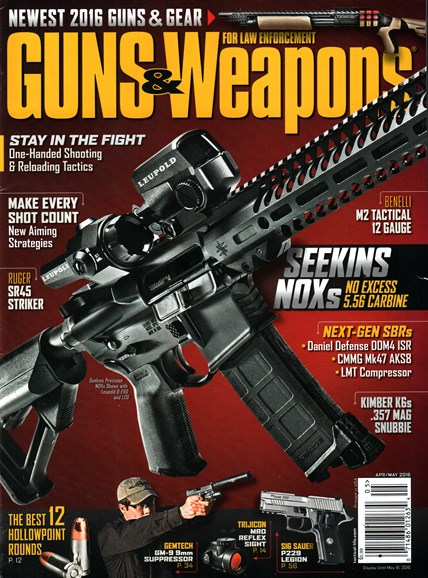 Guns & Weapons For Law Enforcement Cover - 4/1/2016