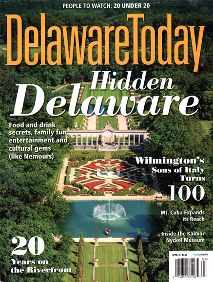 Delaware Today Cover - 4/1/2016