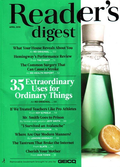 Reader's Digest Cover - 4/1/2016