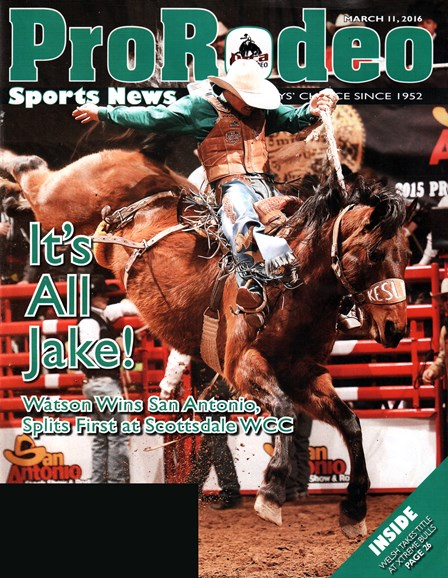 Pro Rodeo Sports News Cover - 3/11/2016