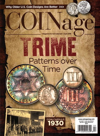 Coinage Cover - 4/1/2016
