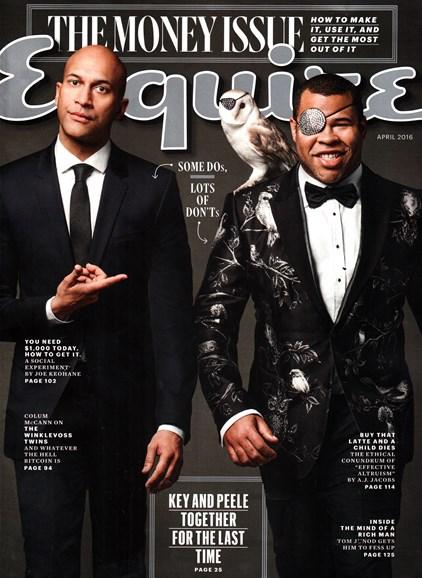 Esquire Cover - 4/1/2016